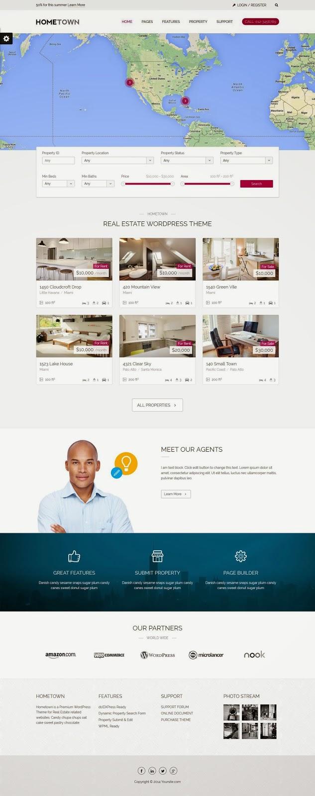 Real Estate WordPress Theme 2015