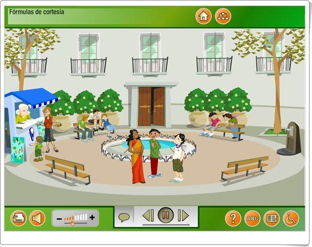 """""""Fórmulas de cortesía"""" (Aplicación interactiva de Lengua Española de Primaria)"""