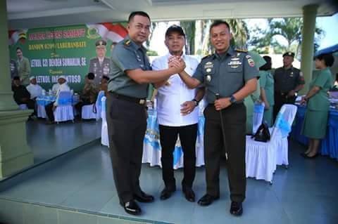 Letkol Inf Santoso Dandim 0209/LB, Plt Bupati Ucapkan Selamat Datang