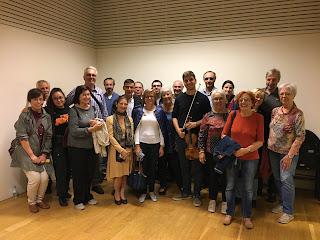 Resum fotogràfic de la trobada amb el nou concertino, Vlad Stanculeasa