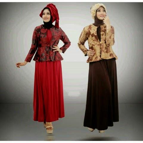 Baju Blazer Muslim Corak Batik