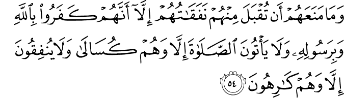 Surat At Taubah Ayat 54