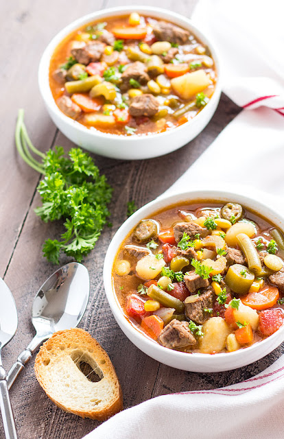 Vegetable Beef Soup by The Blond Cook