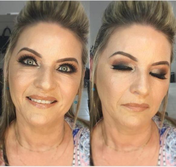 maquiagem de festa pele madura