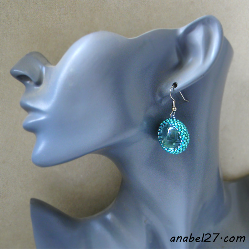 seed bead earrings turquoise