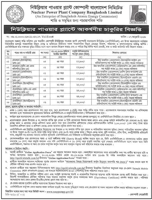 BANGLADESH energy COMMISSION JOB CIRCULAR 2019