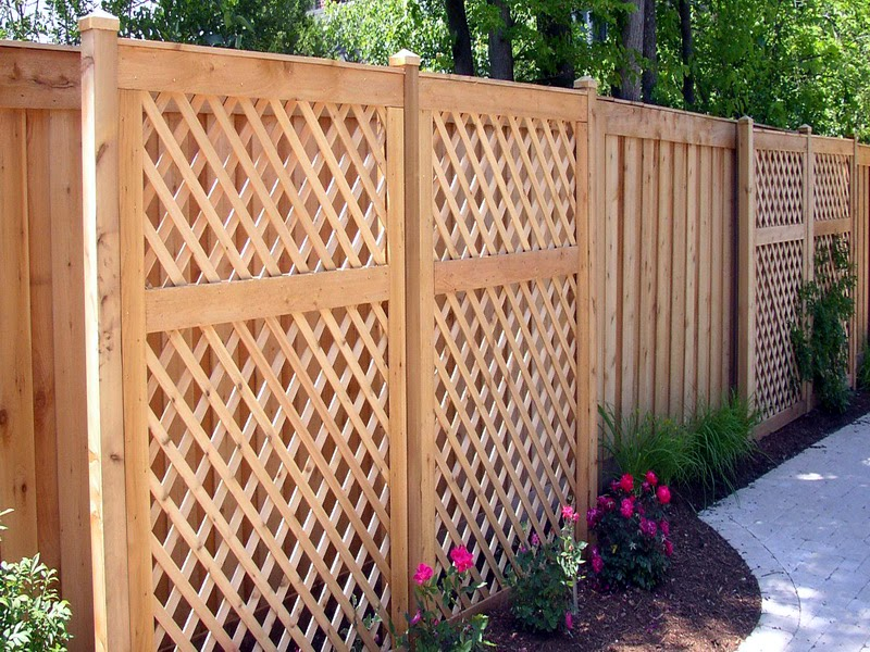 Design a natural fence in backyard for Old wooden fence ideas