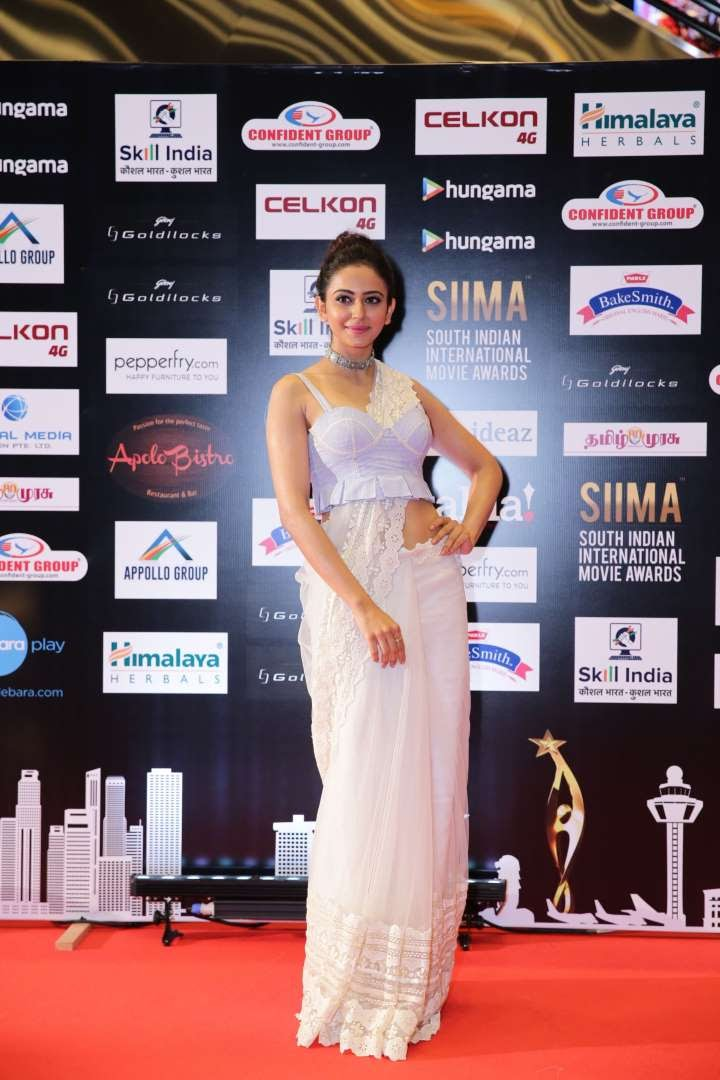 South Indian actress Rakul Preet Singh chose an Archana Rao for the occasion
