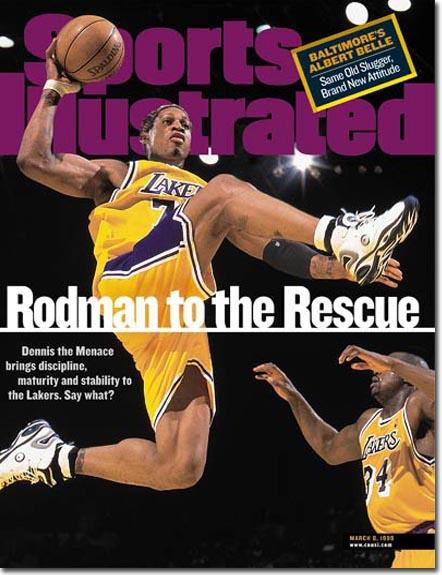nbajerseycenter: Dennis Rodman, LA Lakers, Swingman ...