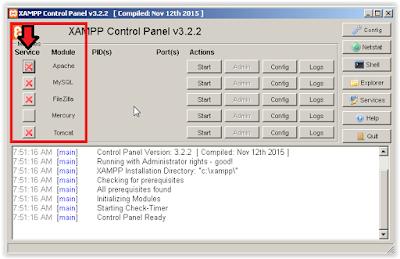 Modul di Kontrol Panel XAMPP