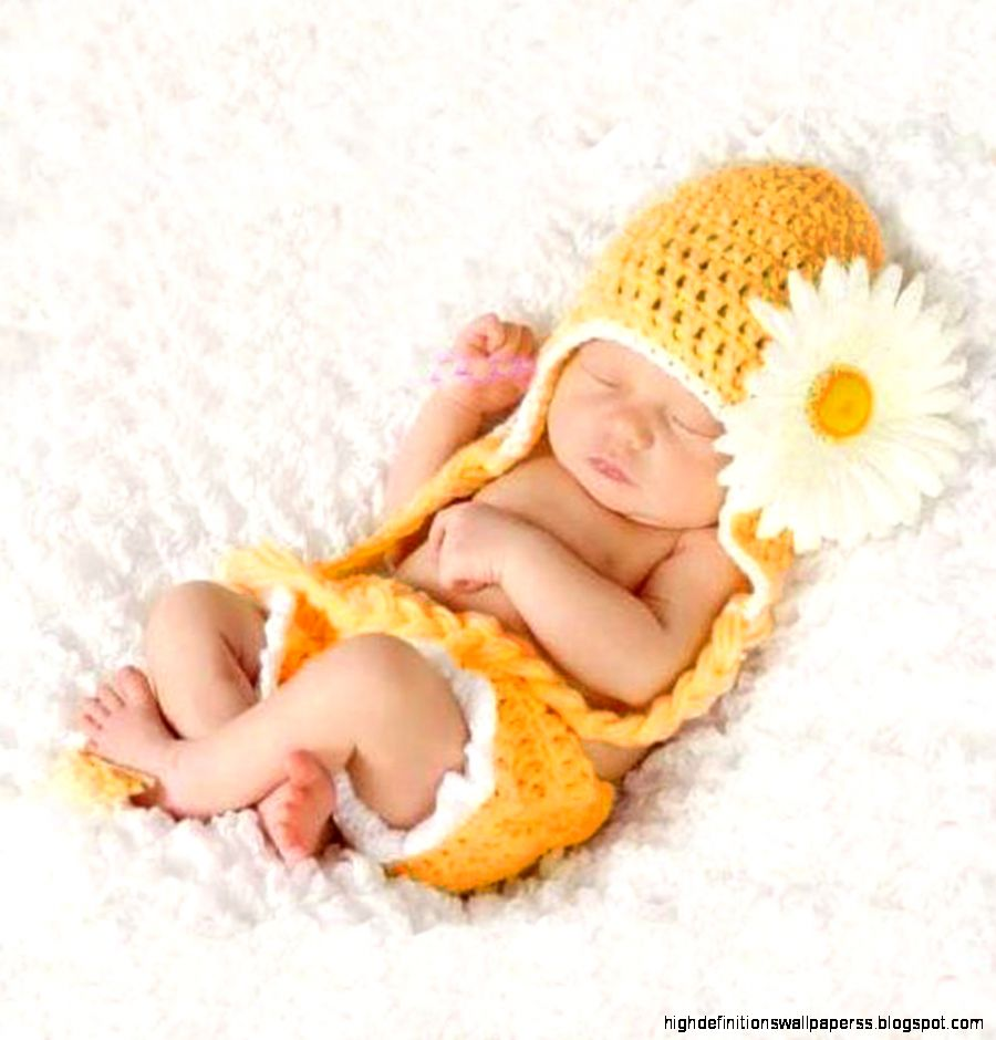 Cute Baby Yellow Flower Wallpaper Hd