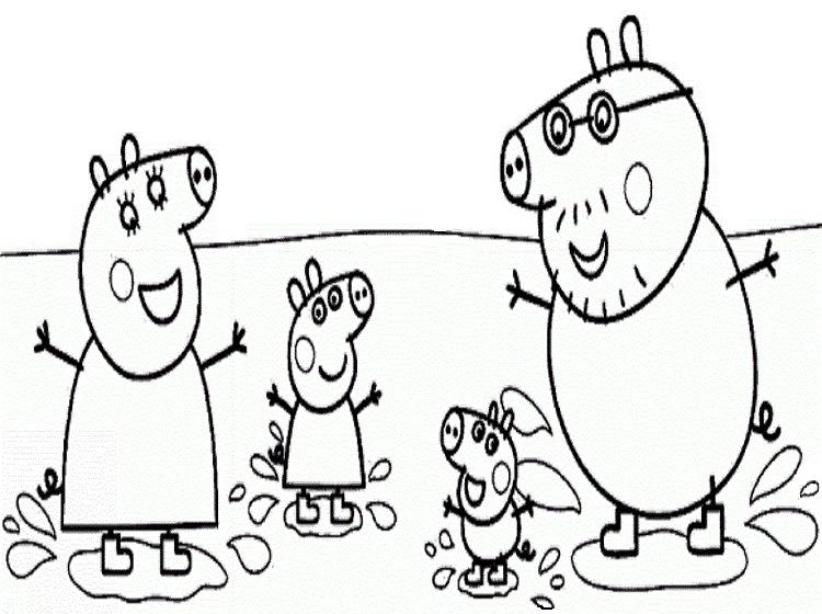 DESENHOS PARA COLORIR: PEPPA PIG