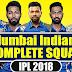 Mumbai IPL Team 2018 | Mumbai Indians Team - IPL Facts 2018