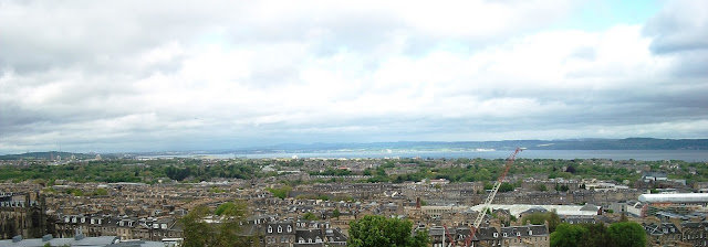 View of the North Sea from Calton Hill