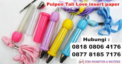 Pulpen Tali Love insert paper