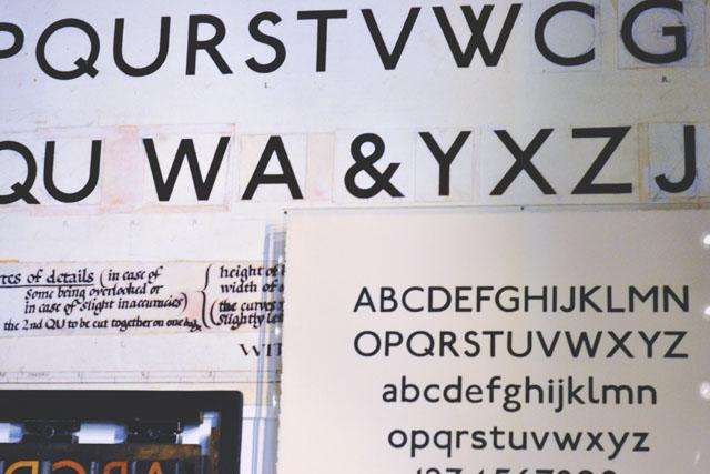 London underground font