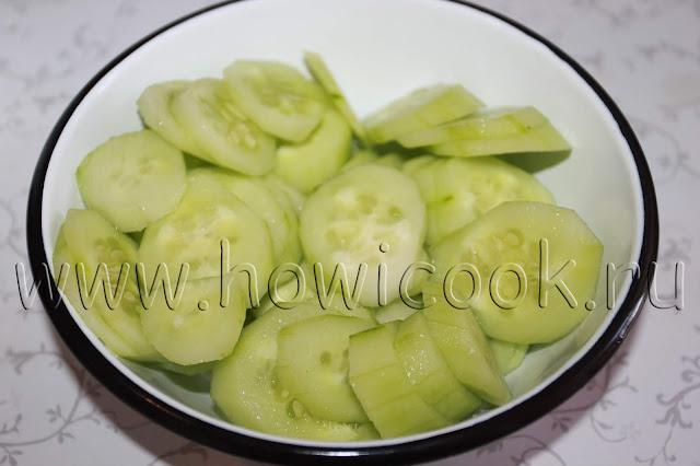 рецепт салата с огурцами и укропом с пошаговыми фото