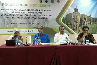 Dinas Kehutanan Provinsi Lampung dan Kementerian LHK Gelar FGD Pengelolaan Jasa Lingkungan