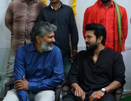 Director Rajamouli Halts #RRR For Ram Charan!