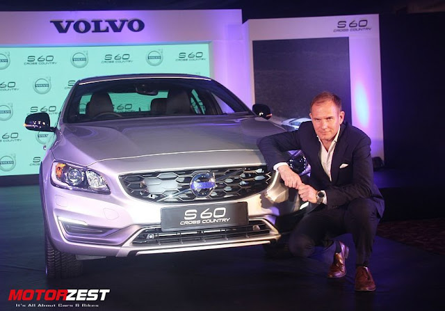 Tom von Bondsdorff with Volvo S60 Cross Country India