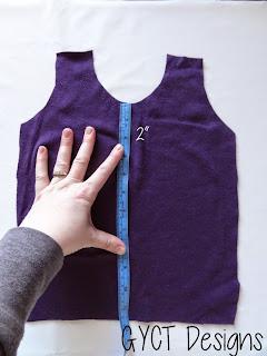 Measuring tshirt