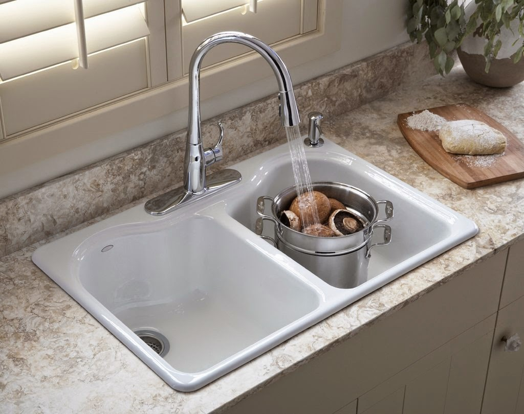 kitchen sink design ideas replacing a kitchen sink A self rimmed or flush mount sink is the most common type of installation The sink is simply dropped into a hole cut into the counter with the rolled