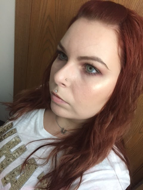 FOTD using Becca Champagne Pop