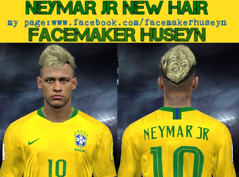 Neymar Jr New Blond Hair Pes2017 Pes2018 20 06 2018 Pes