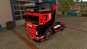 Euro Trans Black Angel skin for Scania RJL