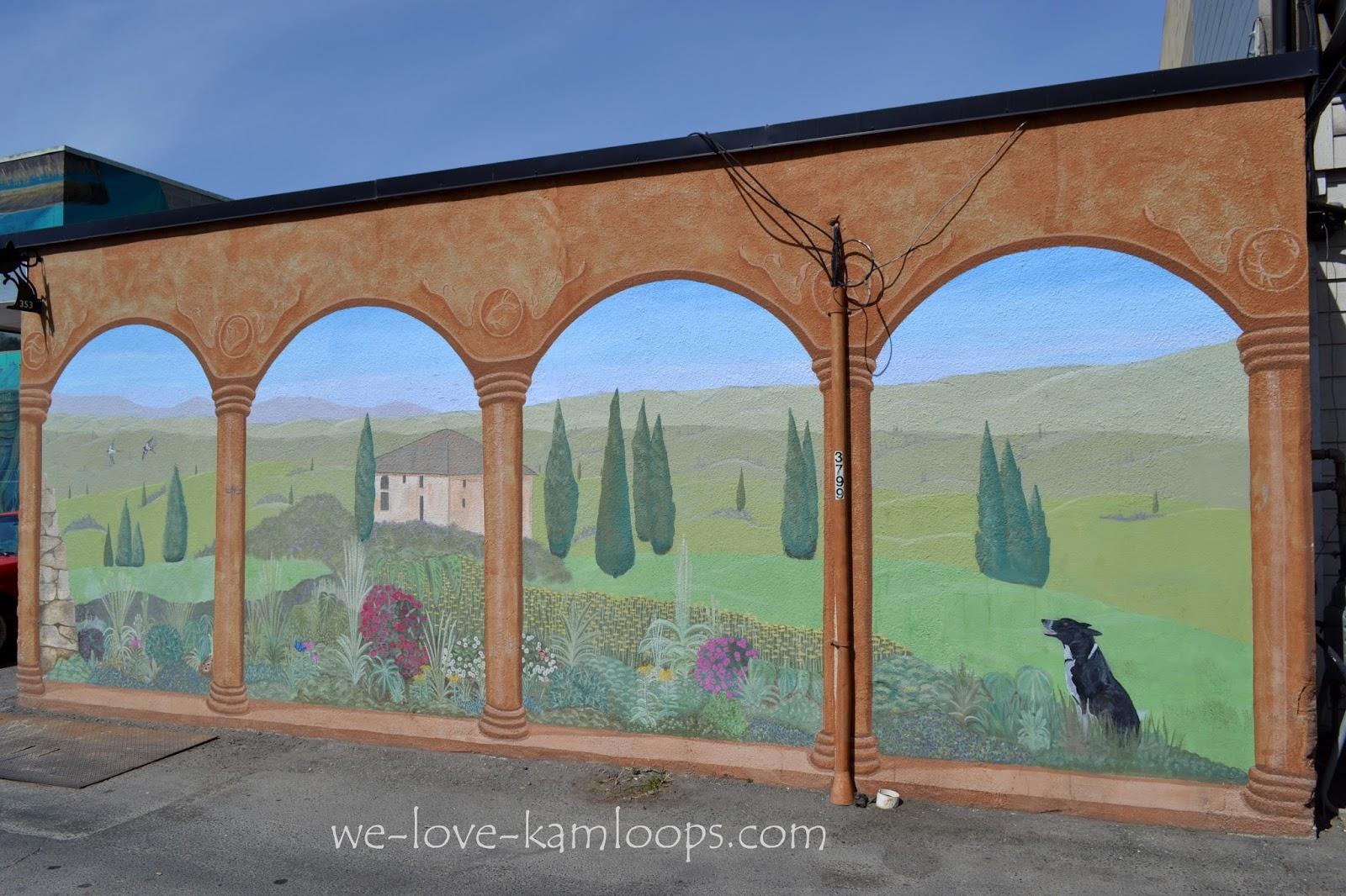 We love kamloops murals back alley art gallery for 6 blocks from downtown mural