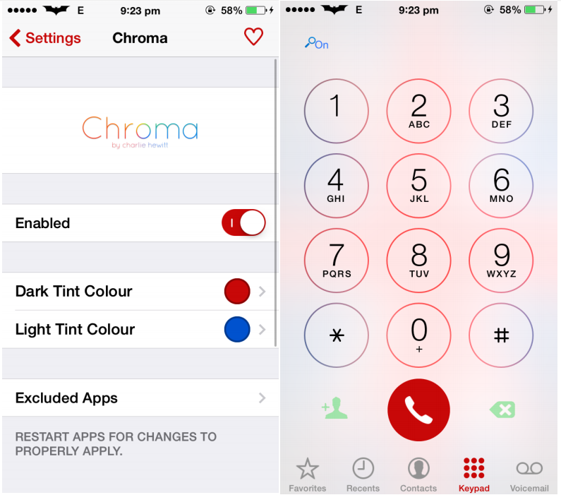 Chroma Cydia Tweaks