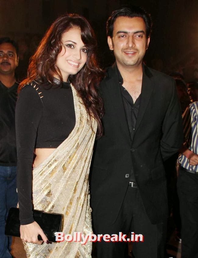 Dia Mirza and Sahil SIngha, Filmfare Awards 2014 Red carpet Images
