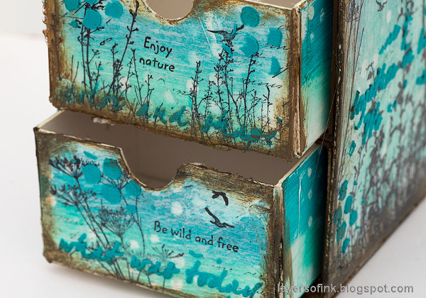 Layers of ink - DIY Chest of Drawers Tutorial by Anna-Karin Evaldsson