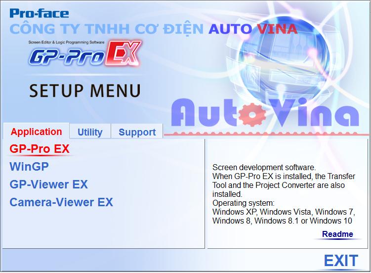 Cung cấp phần mềm miễn phí, link tải phần mềm lập trình HMI Proface GP-Pro EX 4.08