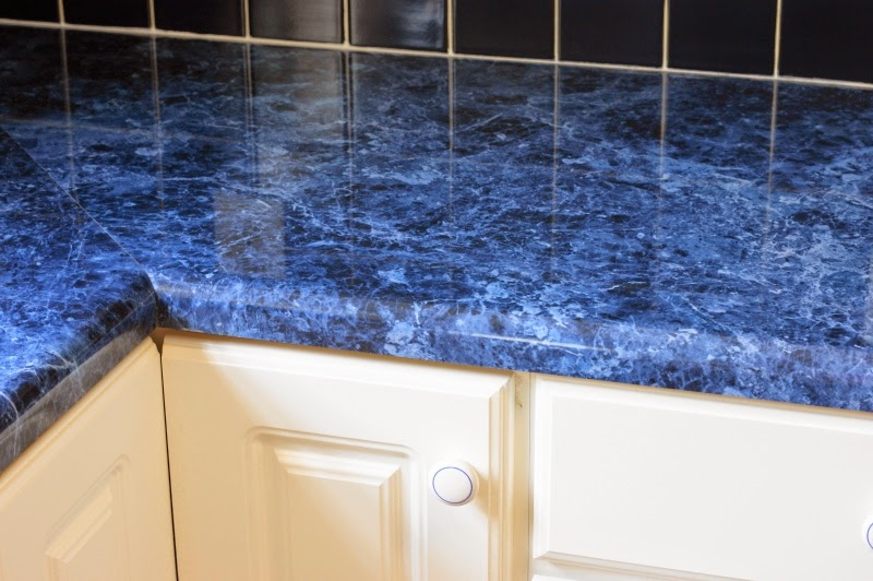 Blue Kitchen Countertops Image