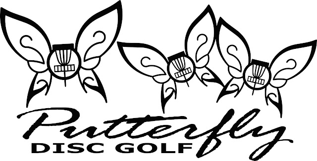 Putterfly Disc Golf Logo einfärbig
