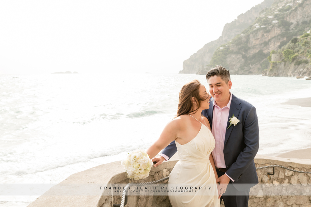 Positano beach wedding