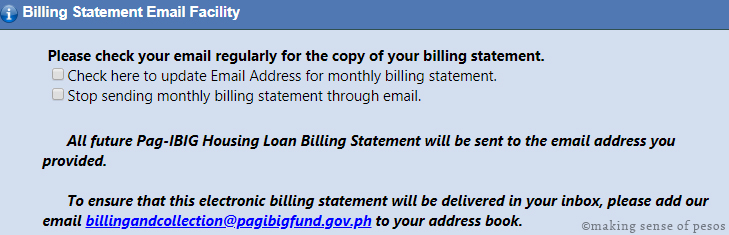 how to view pag ibig housing loan billing statement online making