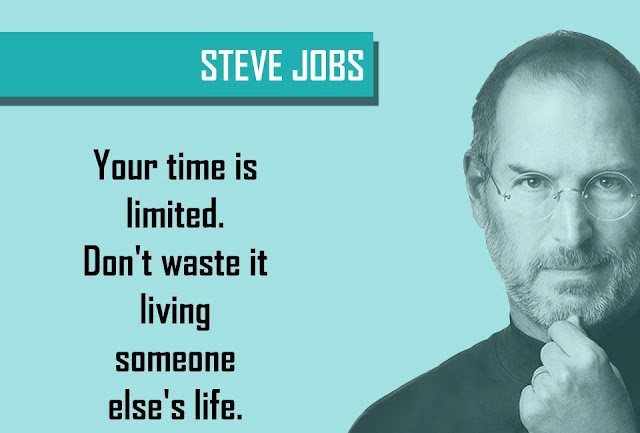 Quote by STEVE JOBS - Your time is limited. Don't waste it living someone else's life