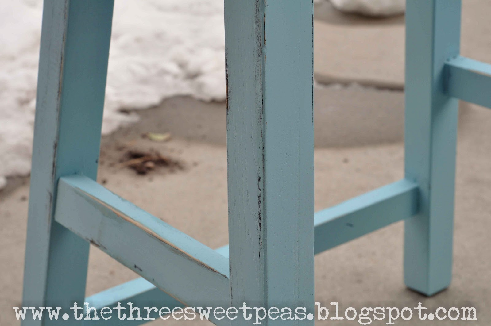 Swell The Three Sweet Peas Counter Stool Redo Before And After Dailytribune Chair Design For Home Dailytribuneorg
