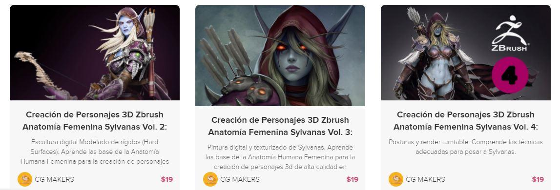 Curso Zbrush Creación de Personajes 3D Zbrush Anatomía Femenina ...