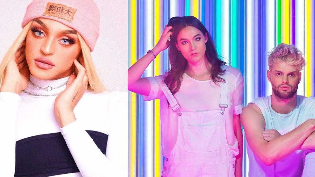 A cantora aproveitou a passagem pela Europa e gravou o clipe oficial do seu remix com a dupla americana.