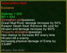 naruto castle defense 6.0 Hiruzen Adamantine Staff