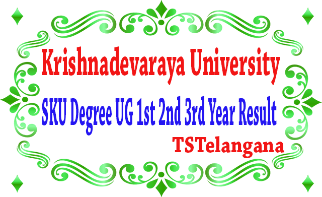 SKU Degree UG 1st 2nd 3rd Year 2019 Result