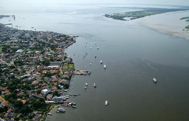 imagem aérea de Santarém – Pará
