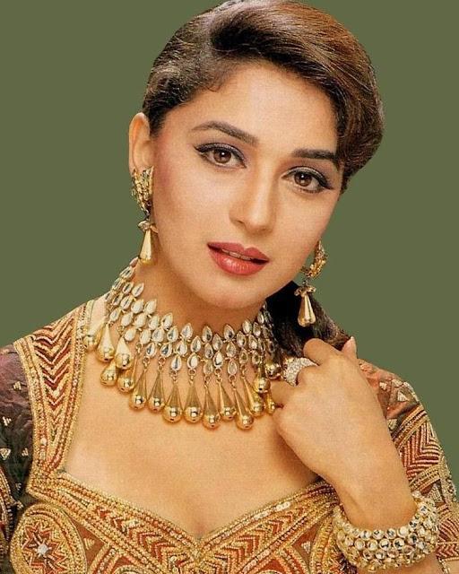 Madhuri Dixit Gemstone Decorative Earrings, Necklace And Bracelets