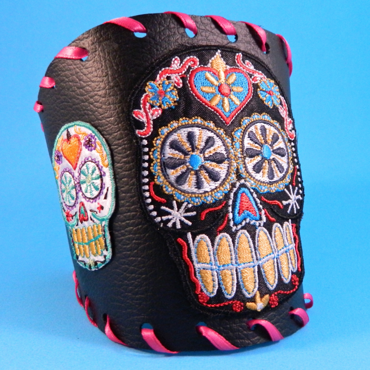 Mark Montano: The Crafty Chica Sugar Skull Patch Cuff!