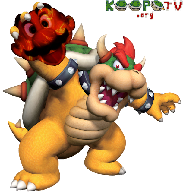 Mario head decapitated bloody Nintendo King Bowser Koopa no hat cap body Kathy Griffin parody KoopaTV