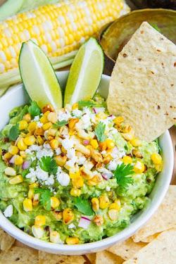 Corn and Cotija Guacamole (aka Esquites Guacamole)