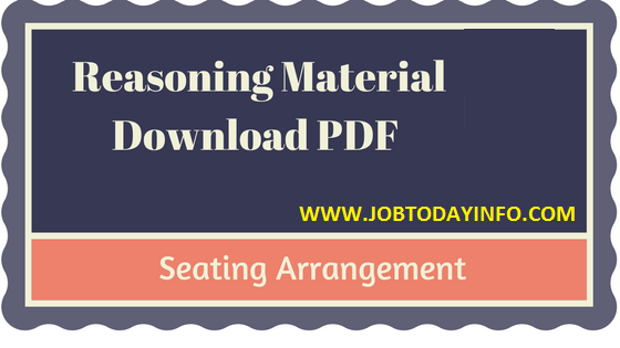 Seating Arrangement Study Material Part -3 PDF Free Download Notes